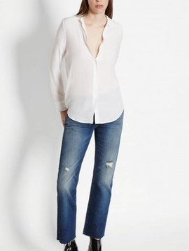 Equipment Essential Silk Shirt in Bright White