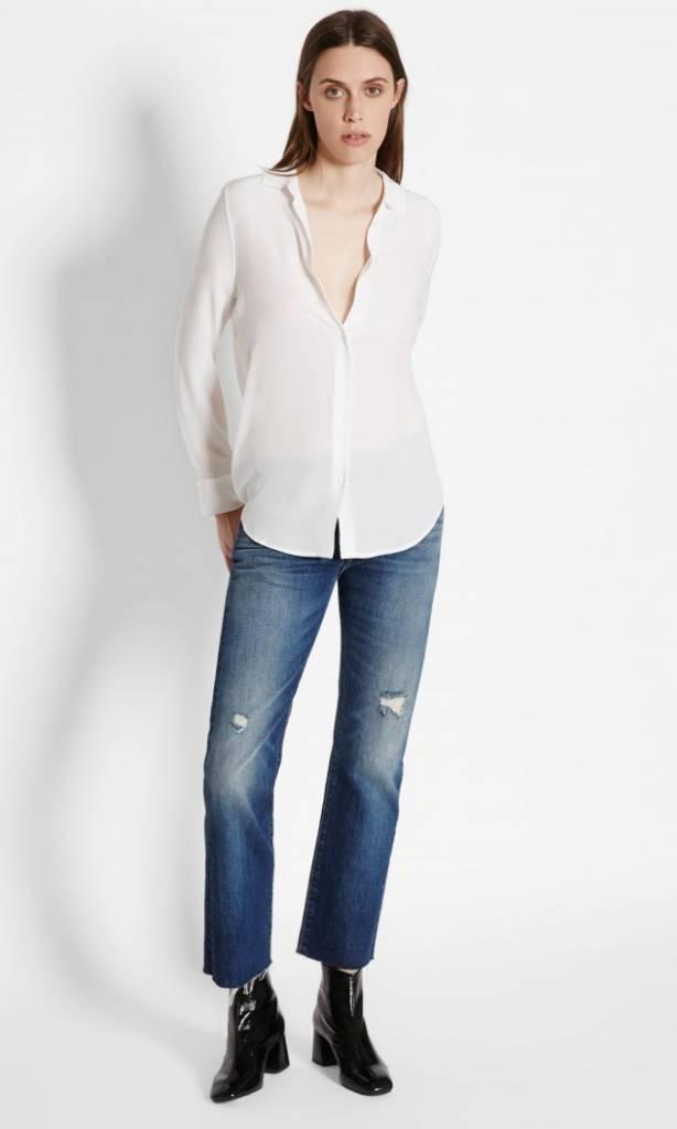 Equipment Essential Silk Shirt in Bright White