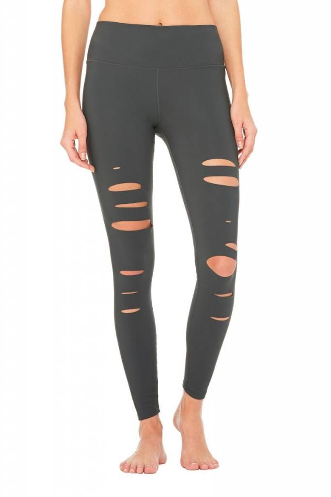 Alo Yoga High Waist Ripped Warrior Leggings