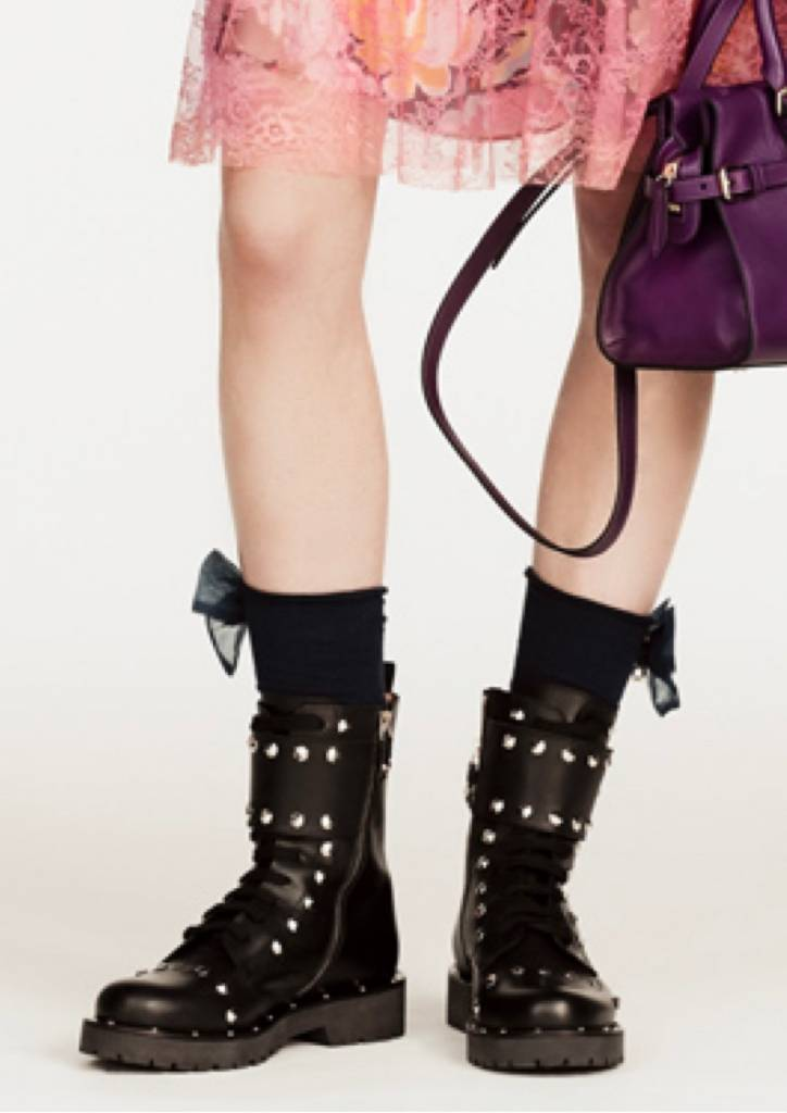 Twin Set Studded Combat Boots