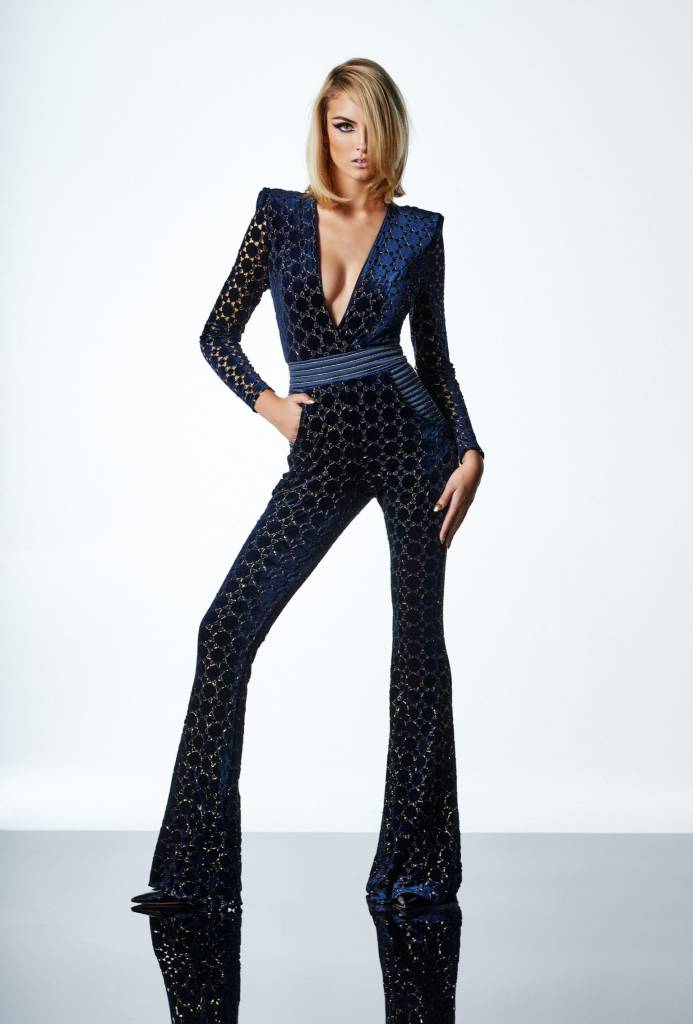 ZHIVAGO Cavalier Jumpsuit in Navy/Gold
