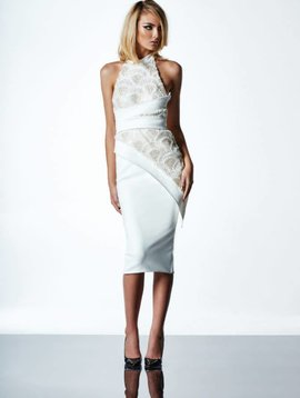 ZHIVAGO Little Havana Dress in White/Gold