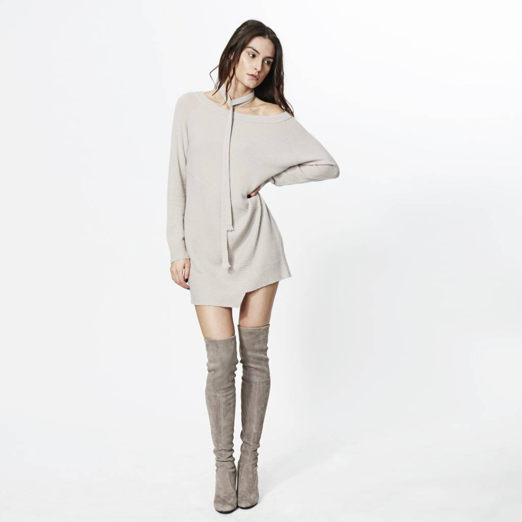 ROI Mix Ribbed Sweater Dress