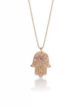 Julez Bryant Hand Pendant w Diamonds and Sapphires
