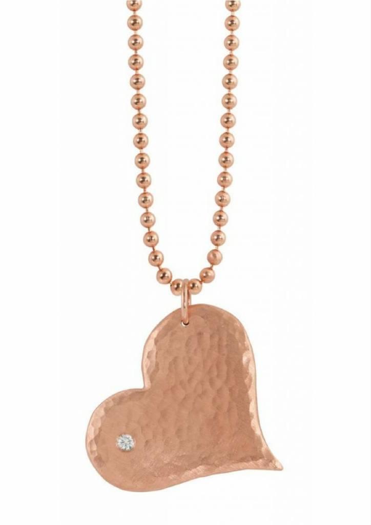 Julez Bryant Large Heart Pendant w 1 Diamond