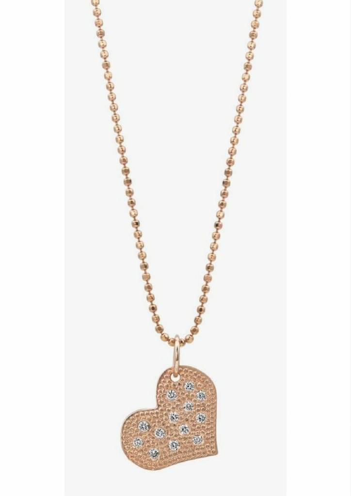 Julez Bryant Baby Paved Heart w Bead Finish