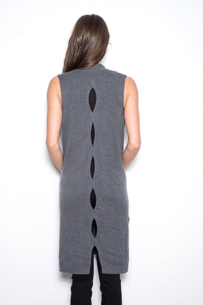 One Grey Day Cameron Back Detail Vest