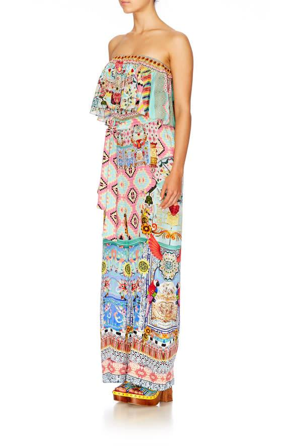 Camilla Close To My Heart Strapless Jumpsuit W Frill