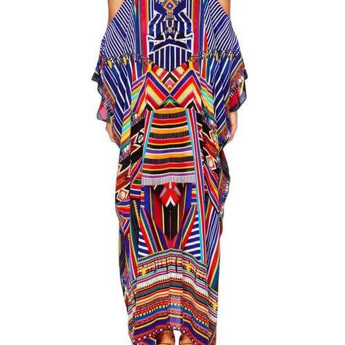 Camilla Tsachila Blessings Shoestring Strap Kaftan