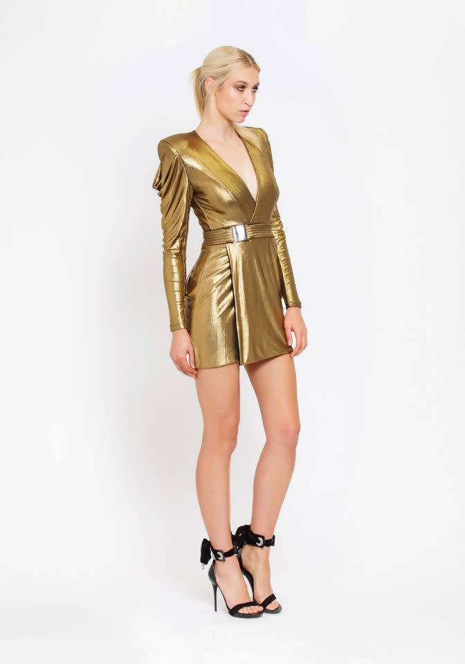 ZHIVAGO Standing on Stardust Dress in Gold