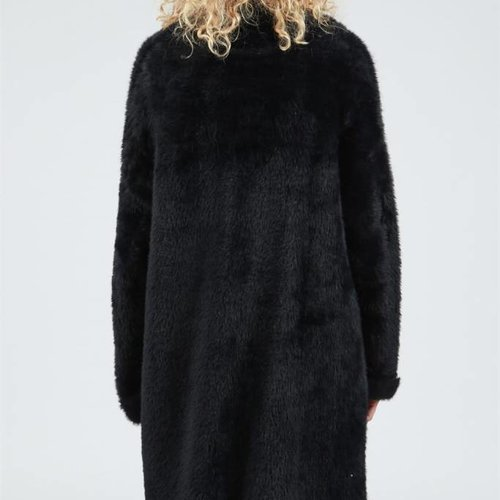 POL Clothing Long Open Front Mohair Sweater