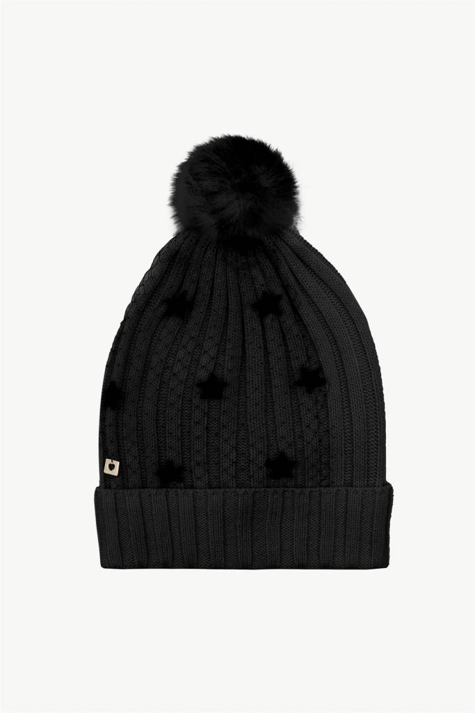 TwinSet Nero Embroidered Beanie Hat