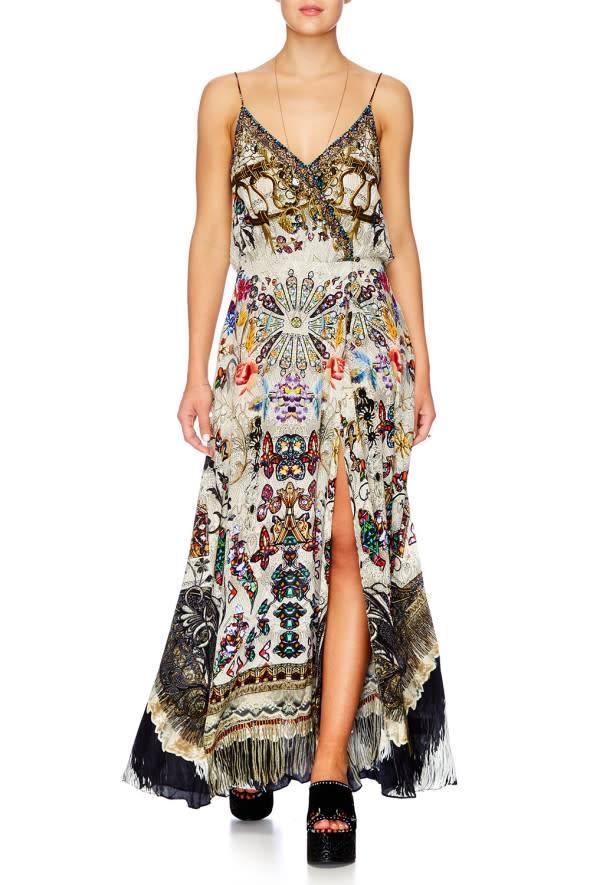 Camilla Strappy Wrap Dress