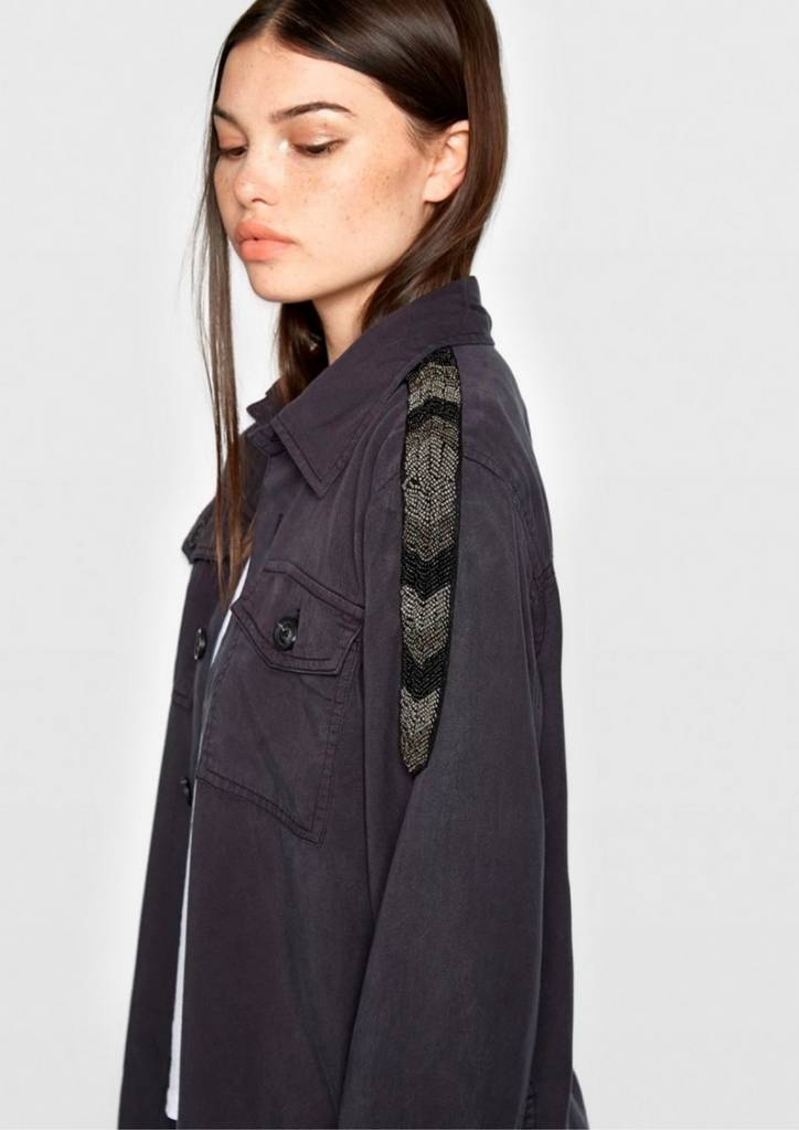 Pam & Gela Tencel Shirt Jacket