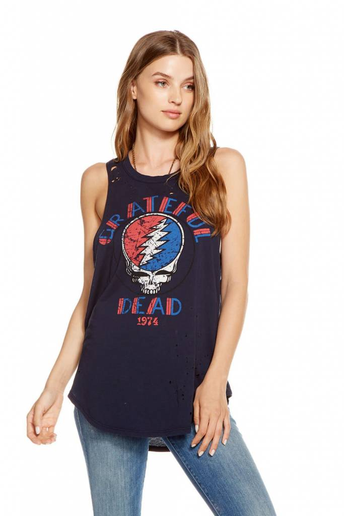 Chaser GRATEFUL DEAD - 1974 Jersey Basic Muscle Tee