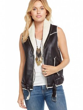 Chaser Faux Suede Fur Lined Vest