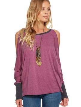 Chaser Blocked Jersey Cold Shoulder