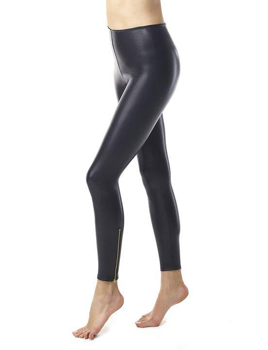 Commando Perfect Control Faux Leather Zip Legging in Black