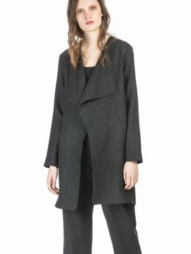 Leo&Sage Shawl Collar Jacket in Charcoal