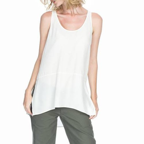 Leo&Sage Silk Sleeveless Tunic in Porcelain