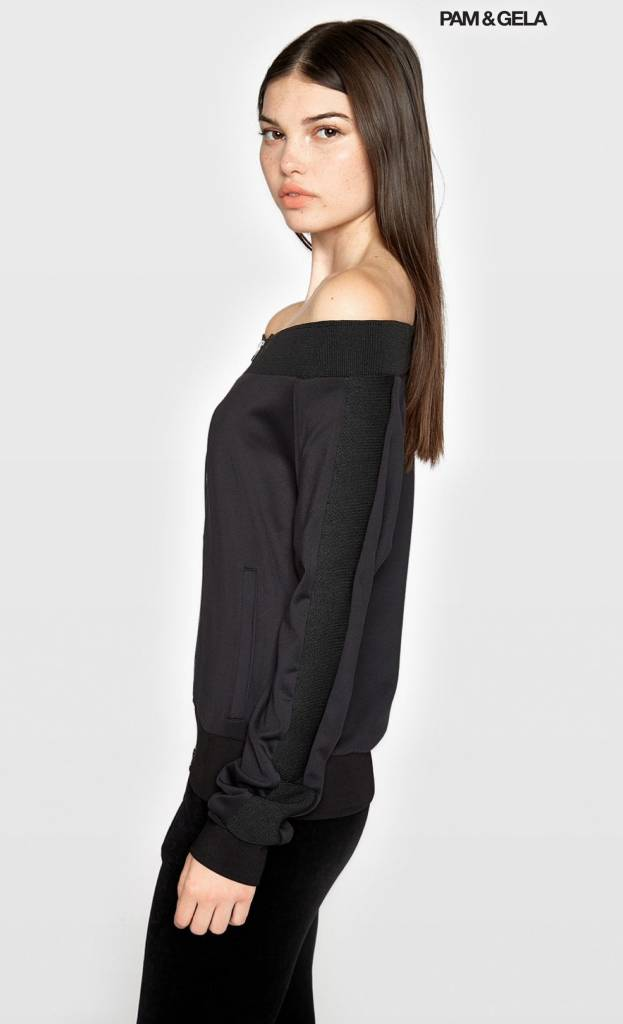 Pam & Gela Off Shoulder Track Jacket