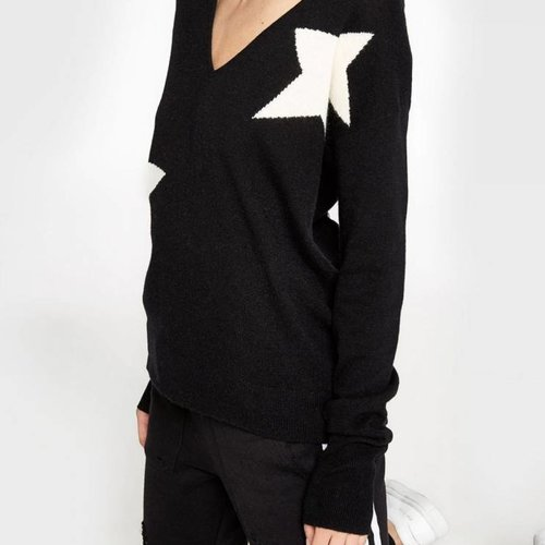 Pam & Gela V-Cut Out Sweater w/ Star