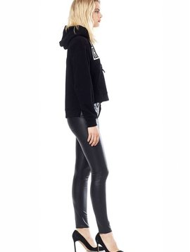 Hudson Barbara Leather High Rise Super Skinny