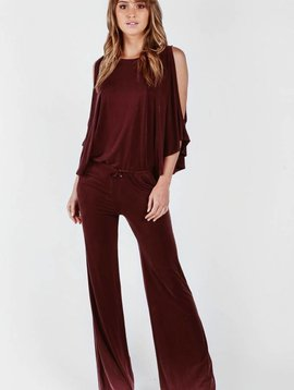 YOUNG BROKE FAB Coy Jumpsuit in BLACK