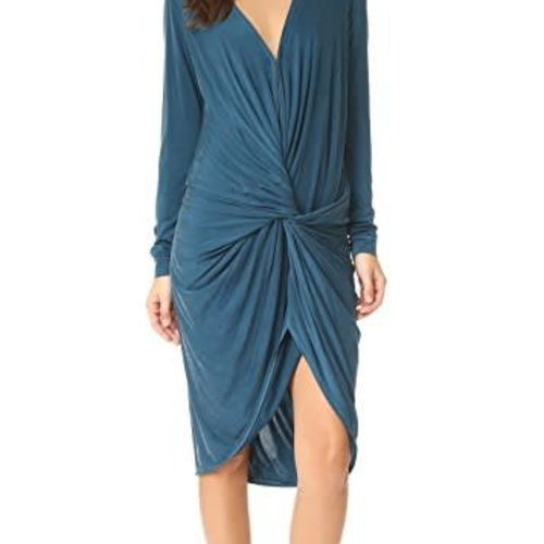YOUNG BROKE FAB Adele Dress in Sea Blue