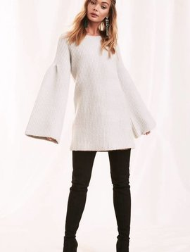 Lovers + Friends Gemstone Sweater in Warm Grey