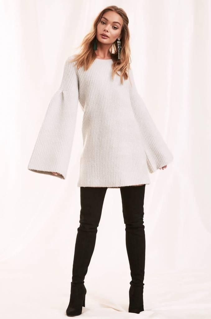 Lovers + Friends Gemstone Sweater in Warm Grey