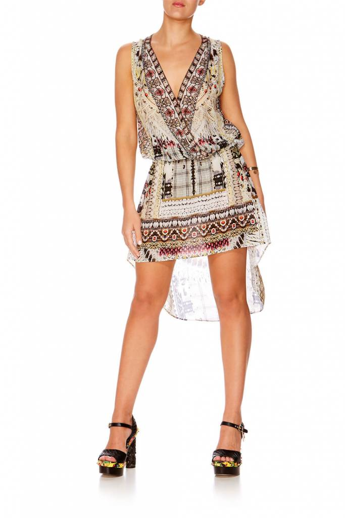Camilla Cross Over Front Dress in Spell Bound