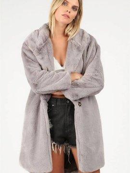 POL Clothing Vintage Mood Fur Jacket