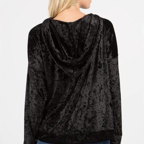 POL Clothing Velvet Drop Shoulder Pullover