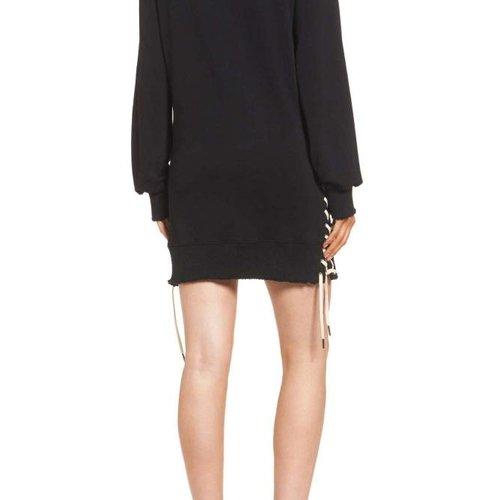 Pam & Gela Sweatshirt Dress with Lace