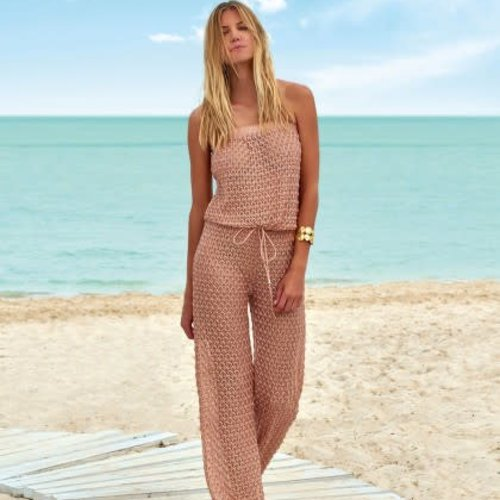 Melissa Odabash Grace Jumpsuit in Dusty Pink