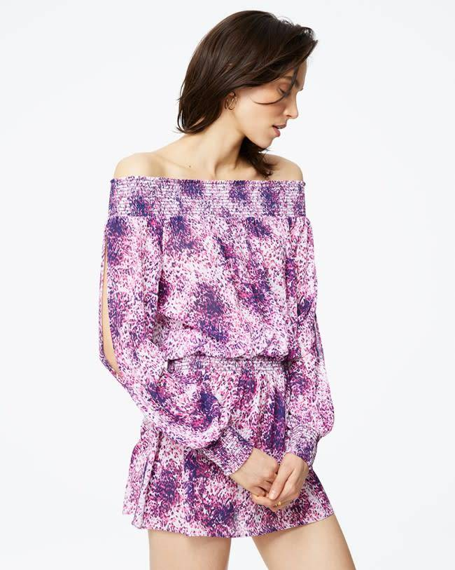 Ramy Brook Printed Lucia Dress in BLUE