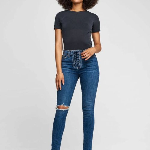 Hudson Bullocks High Rise Lace Up Jeans in Unapologetic