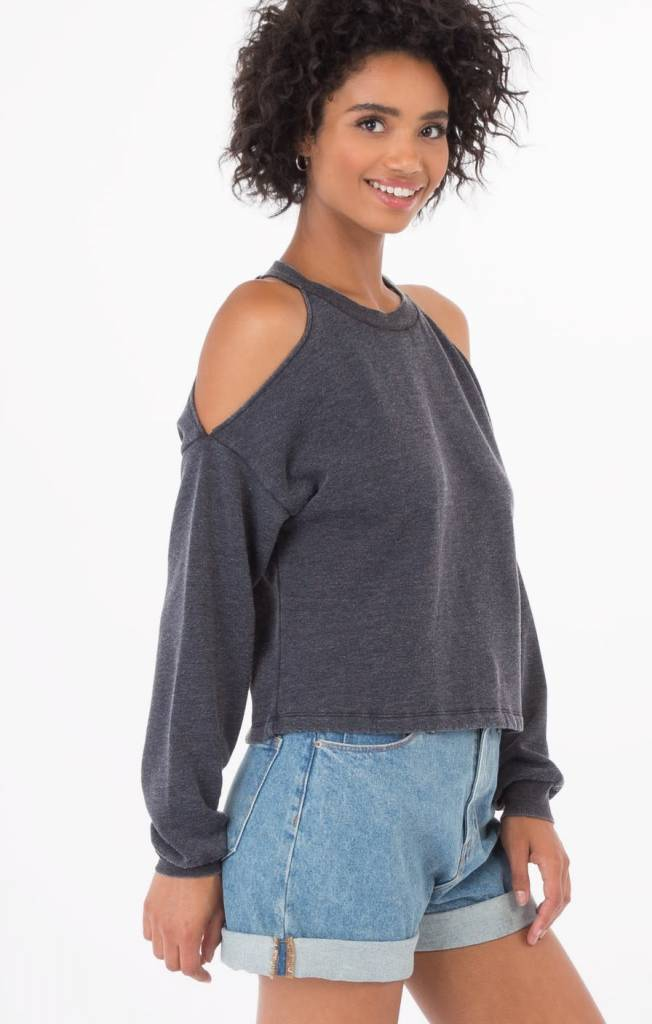 Z SUPPLY The Cropped Cold Shoulder in LILAC