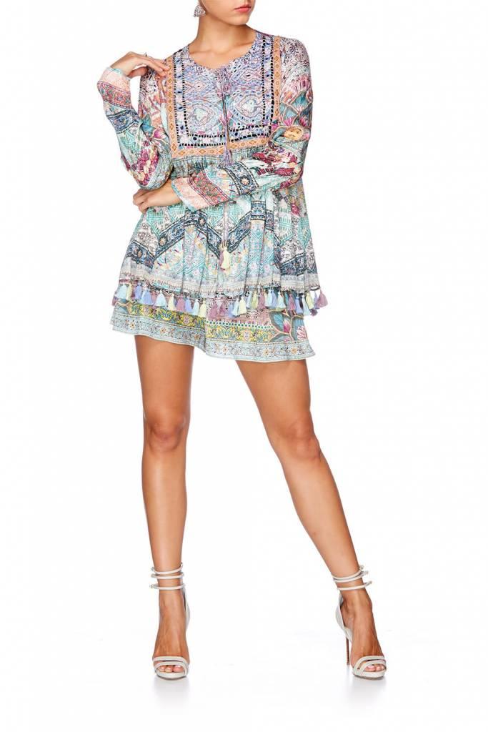Camilla Long Sleeve Bib Top in Marigold