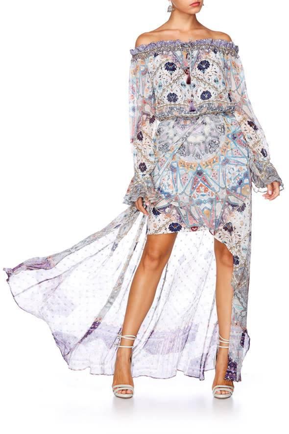 Camilla Drop Shoulder Split Dress in Tales of Tatiana