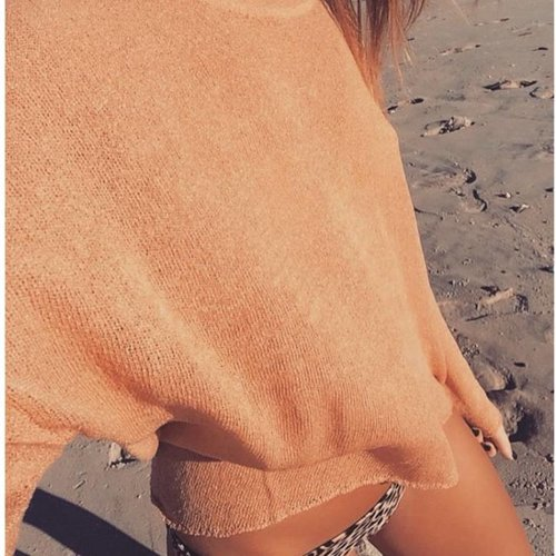 Karma For A Cure Rose Gold Knit Sweater