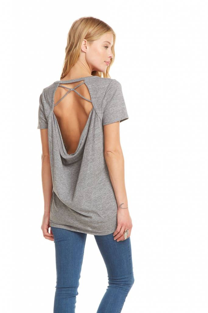 Chaser  Strappy Drape Back Tee