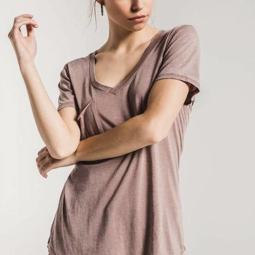 Z SUPPLY The Pocket Tee Taupe Grey