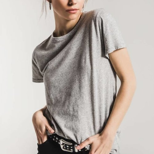 Z SUPPLY The Core Crew in Heather Grey