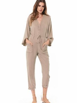 YOUNG FAB + BROKE Ida Jumpsuit in Beige
