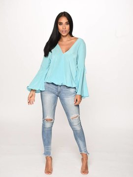 Aum Couture Maya Top in Sky