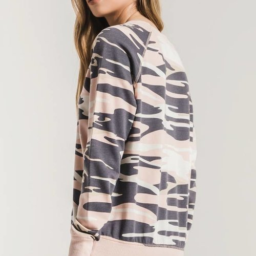 Z SUPPLY The Camo Crew Pullover