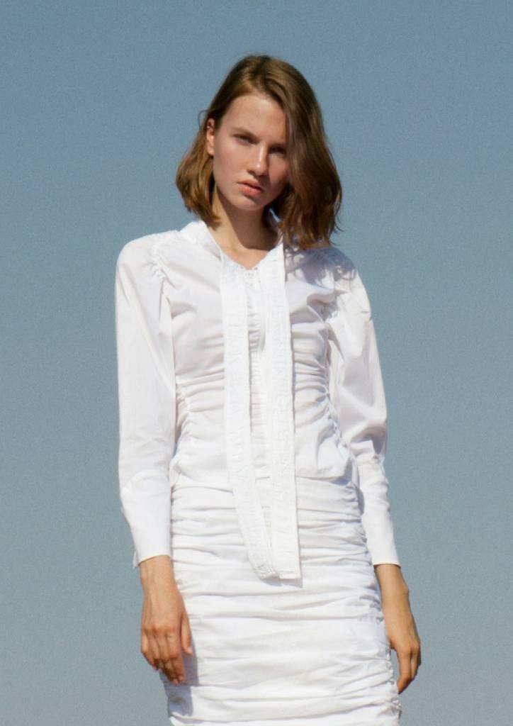 Liana Camba Elastic Popelin Drape Shirt