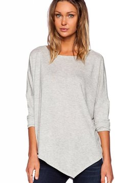 Merritt Charles Birkin Poncho in Heather Grey
